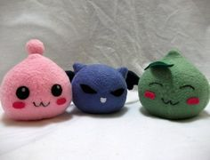 Poring Plush from Ragnarok Online by PlushWithAttitude on Etsy