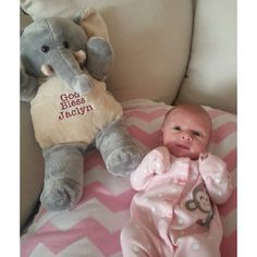 Irresistibly cute! Here's a fun idea for a Baptism gift. This stuffed elephant comes personalized with the little one's name!