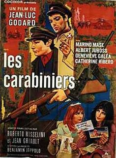 The Carabineers (1963-France) dir. Jean-Luc Godard Cinema Movies, Comedy Movies, Film Movie, Jacques Demy, Susan Sontag, Top Movies To Watch, Good Movies, Paris Film, Cinema Posters