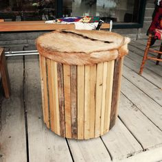 furry stool #woodstools