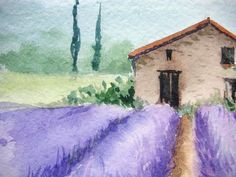 Watercolor Landscape Tutorial, Abstract Art Painting, Watercolor Water, Watercolor Art Landscape, Watercolor Paintings, France Art, Water Paint Art, Canvas Art Painting, Canvas Painting Diy