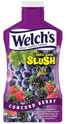 Welch's 100% Juice Slush by Cool Tropics – Concord Berry