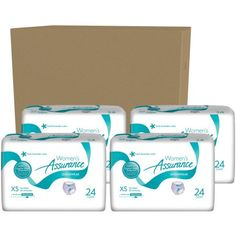 Assurance Women's Maximum Absorbency Underwear, Extra Small, 24 count, (Pack of 4)