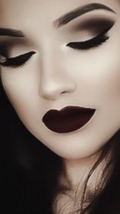 Dark shades of makeup - goth #Luxurydotcom