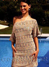 Free pattern!  Gorgeous dress.