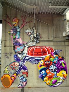 Street Art by David Choe, located in Denver, Collorado