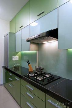 Apartment in Mumbai by Kitchen Cupboard Designs, Kitchen Room Design, Modern Kitchen Design, Home Decor Kitchen, Interior Design Kitchen, Kitchen Layout Plans, Kitchen Modular, Home Stairs Design, Modern Kitchen Interiors