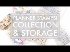 Planner Stamps Collection & Storage // 516vlogs - Studio Calico, Hello Forever - YouTube