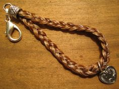 chestnut horse hair keychain <3 $20