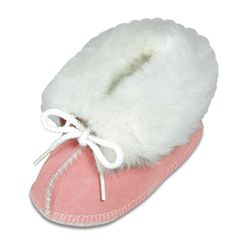Golden Pink Genuine Sheepskin Bootie - Minnetonka Moccasins http://stagecoachgifts.biz/collections/minnetonka-moccasins/products/genuine-sheepskin-bootie
