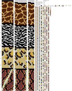 Schemata der Geschirre von Maryana K. Bead Crochet Patterns, Bead Crochet Rope, Peyote Patterns, Beading Patterns, Crochet Beaded Necklace, Crochet Bracelet, Diy Friendship Bracelets Patterns, Tapestry Crochet, Beaded Animals