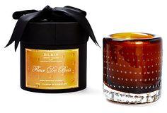 L'Ambre De Bois Lg. Brown Glass Candle on OneKingsLane.com