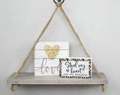 Home Decor & Gifts made by Simply Said by SimplySaidSheila on Etsy Hanging Rope Shelves, Country Farmhouse Decor, Country Girls, Kids Room, Room Decor, Sayings, Unique Jewelry, Handmade Gifts, Etsy