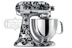 Flourish kitchen mixer decal Swirl mixer by GoodGollyGraphics - In Mint $24.61