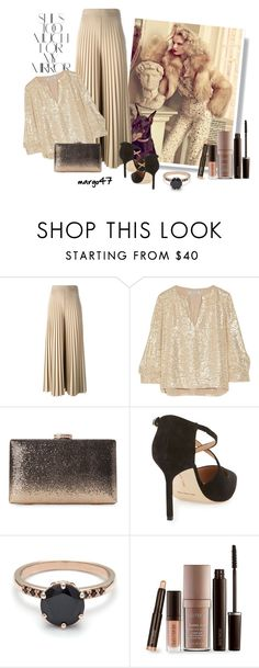 """""""elegancja"""" by margo47 ❤ liked on Polyvore featuring Rika, Givenchy, Elizabeth and James, Manolo Blahnik and Laura Mercier"""
