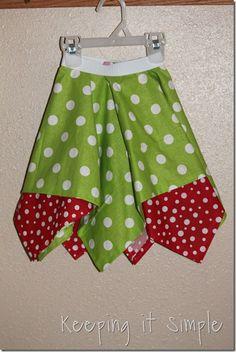 square circle Christmas skirt (10)