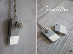 Concrete has long been a topic and we all love the great things you can do with it. When I came acro Dc Fix Folie, Cement Jewelry, Concrete Projects, Diy Schmuck, Love Is All, Dog Tag Necklace, Jewelery, Jewelry Making, Bling
