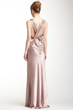 Cowl Neck Crisscross Back Dress
