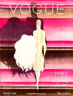 Vogue US Cover - October 1925 - Early Paris Opening Number - Fashion illustration by William Bolin