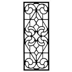 Wrought Iron Rectangular Wall Art (Style 205) at Timeless Wrought Iron