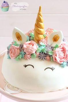 Super einfache Einhorn-Torte // Mädchen Geburtstagstorte