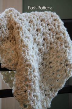 Crochet PATTERN  Crochet Baby Blanket Wrap Pattern di PoshPatterns