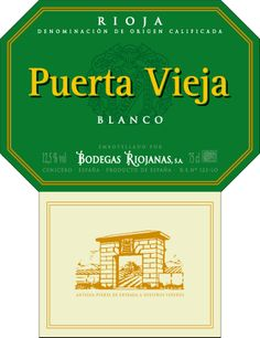 Puerta Vieja Blanco #Rioja #wine
