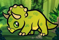 Dinosaurs For Kids - How to Draw a Triceratops For Kids