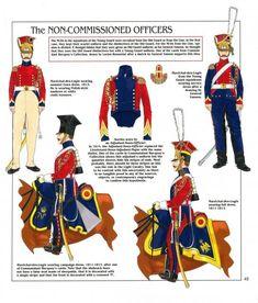Sottufficiali del 2 rgt. cavalleggeri olandesi della guardia imperiale, 1804-1815