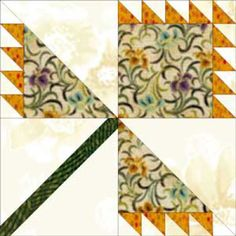 Broken Branch is a Quilt Block Pattern That Lets You Play with Colors: Learn How to Make Broken Branch Quilt Blocks