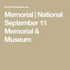 Memorial | National September 11 Memorial & Museum
