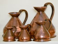 Currently at the #Catawiki auctions: Victorian Copper Gallon Measure Set-England - early 20th century