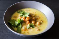 Heidi Swanson's genius spring Chickpea Stew with Saffron, Yogurt, and Garlic
