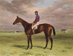 The Rev. John William King's ('Mr Launde's') bay filly Agility with jockey up at Newmarket by Harry Hall (1814-1882)