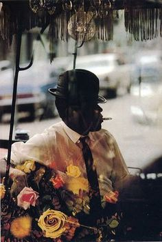 Man and Flowers, saul leiter