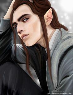 Young MAedhros by Mythlorn-art