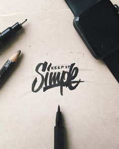 """#currentmood is just to """"keep it simple"""" happy hump day ya'll  #goodtype #graphicdesign #design #typography #handmadefont #typespire #typematters #typegang #typetopia #typographyinspired #goodtype #betype #50words #handtype #muse9creative #letteringco #graphicdesignui #typedaily #typeverything #typetopialogolove #gfxmob #thedesigntip #dribbble #behance #designspiration #simplycooldesign"""
