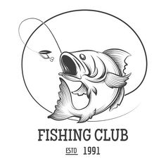 Illustration about Fishing club logo with fly fish vector illustration. Illustration of isolate, hook, engraving - 74476264 Fishing Signs, Fishing Quotes, Fishing Humor, Fish Vector, Vector Art, Deep Sea Fishing, Fly Fishing, Fishing Rods, Logos