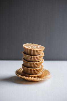 5 Ingredient Inside-Out Peanut Butter Cups   edibleperspective.com #vegan #glutenfree