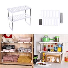 Features can be stretched on the left and right. Usage Can be used  sc 1 st  Pinterest & White steel 3 tier corner plate stand stacker holder storage rack ...
