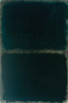 mark rothko, dark color period, green black