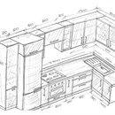 Угловая кухня с полным комплектом техники.