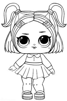 Lol Lil Sisters Coloring Pages from Lol Doll Coloring Pages Printable. Toys LOL are treading the peak of popularity among children throughout the world. Even though the doll inside the LOL Surprise ball is not exactly rev. Unicorn Coloring Pages, Coloring Sheets For Kids, Coloring Pages For Girls, Cute Coloring Pages, Flower Coloring Pages, Cartoon Coloring Pages, Christmas Coloring Pages, Coloring Books, Free Coloring