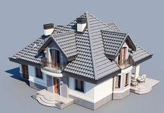 DOM.PL™ - Projekt domu DM Śnieżka K CE - DOM GM2-59 - gotowy koszt budowy Exterior Design, Interior And Exterior, House Outside Design, Civil Construction, House Design Pictures, Architectural House Plans, Home Fashion, Luxury Furniture, My Dream Home
