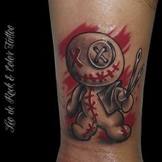 Top Tattoos, Tattoos, Doll Tattoo, Skull Art, Picture Tattoos, Gothic Fantasy Art, Voodoo Dolls, Voodoo Doll Tattoo, Doll Drawing