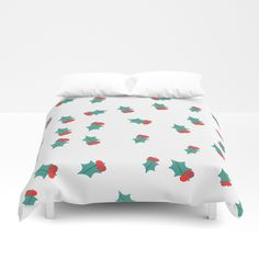 Holiday - Christmas collection- susycosta Ditsy Mistletoe Duvet Cover