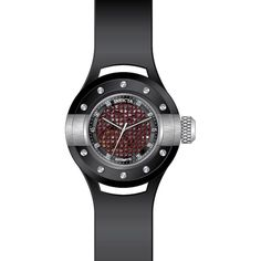 Invicta 20102 Men's S1 Rally Black & Red Dial Black Polyurethane Strap Automatic Watch