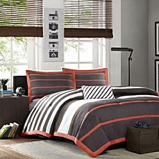 image of Ashton Comforter Set in Orange