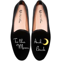 Del Toro To The Moon and Back Loafer (54.875 HUF) ❤ liked on Polyvore featuring shoes, loafers, flats, slip on shoes, black slip on shoes, black velvet shoes, black slip-on shoes and bridal flats
