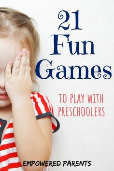 21 Fun Games to Play with Kids that are Also Educational – Empowered Parents These fun games to play with kids are educational and simple. Grab these ideas for indoor and outdoor games that build a multitude of skills. Have lots of fun while learning. Games To Play Indoors, Games To Play With Kids, Indoor Games For Kids, Indoor Activities For Toddlers, Outdoor Games, Educational Activities For Preschoolers, Preschool Activities, Summer Activities, Play Based Learning